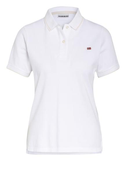 NAPAPIJRI Piqué-Poloshirt EALIS, Farbe: WEISS (Bild 1)