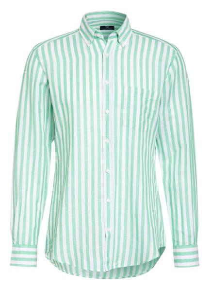 STROKESMAN'S Hemd Regular Fit mit Leinen , Farbe: HELLGRÜN/ WEISS (Bild 1)