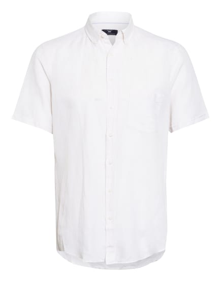STROKESMAN'S Kurzarm-Hemd Regular Fit mit Leinen, Farbe: WEISS (Bild 1)