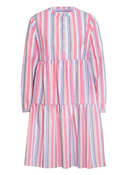 lilienfels Kleid mit Volantbesatz, Farbe: HELLGRÜN/ BLAU/ HELLROT (Bild 1)