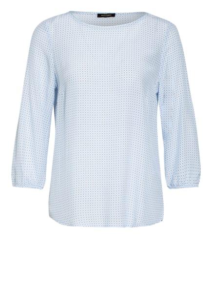 MORE & MORE Blusenshirt mit 3/4-Arm, Farbe: HELLBLAU/ WEISS (Bild 1)