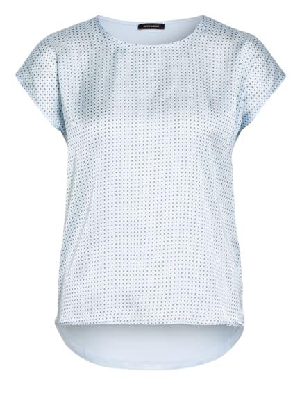 MORE & MORE Blusenshirt im Materialmix, Farbe: HELLBLAU/ WEISS/ GRAU (Bild 1)