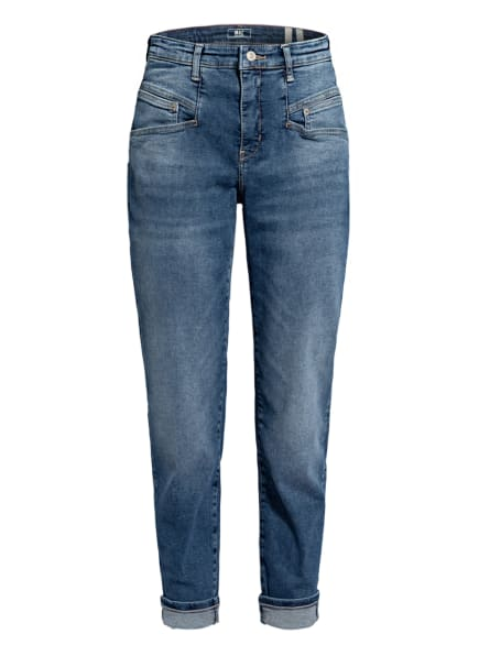 MAC Mom Jeans RICH CARROT, Farbe: D825 blue authentic used wash (Bild 1)