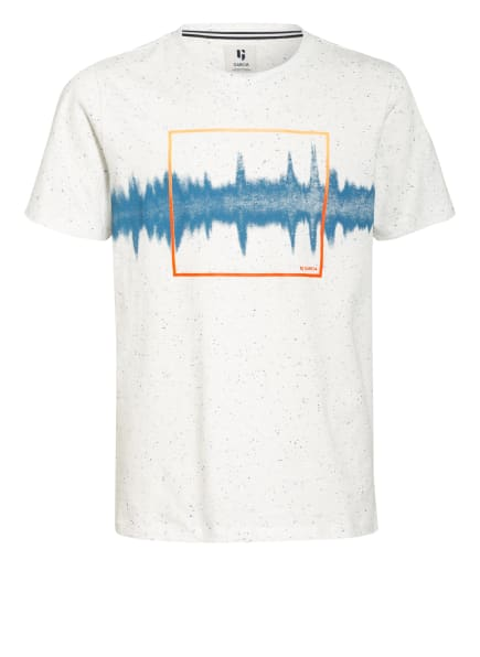 GARCIA T-Shirt, Farbe: WEISS/ BLAU/ NEONORANGE (Bild 1)