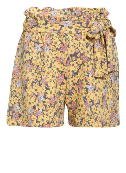 GARCIA Paperbag-Shorts, Farbe: DUNKELGELB/ HELLBLAU/ GRAU (Bild 1)