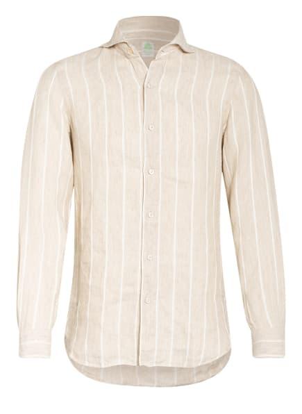 FINAMORE 1925 Leinenhemd TOKYO Slim Fit , Farbe: BEIGE/ WEISS (Bild 1)