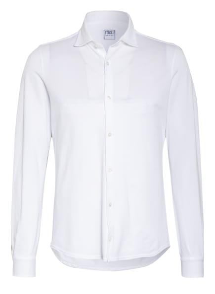 FEDELI Piquéhemd STEVE Slim Fit, Farbe: WEISS (Bild 1)