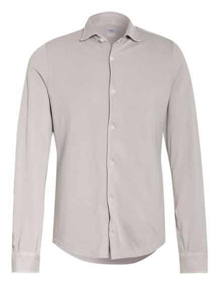 FEDELI Piquéhemd STEVE Slim Fit, Farbe: HELLGRAU (Bild 1)