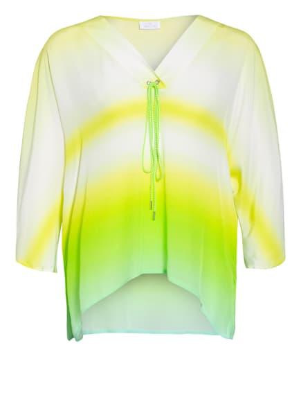SPORTALM Oversized-Blusenshirt mit 3/4-Arm, Farbe: HELLGRÜN/ WEISS/ GELB (Bild 1)