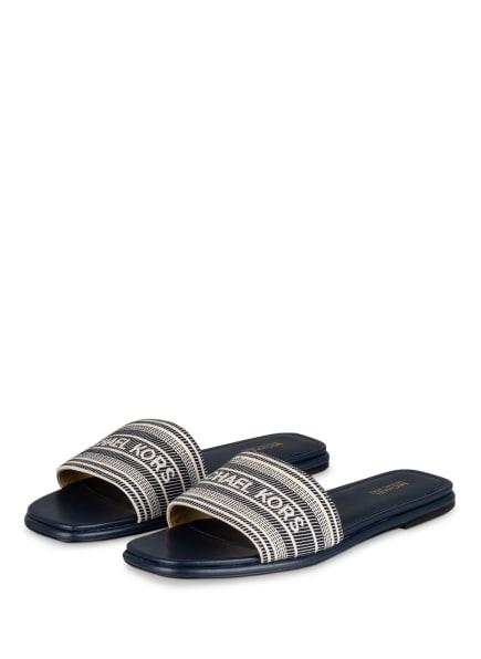 MICHAEL KORS Pantoletten SADLER, Farbe: NAVY (Bild 1)