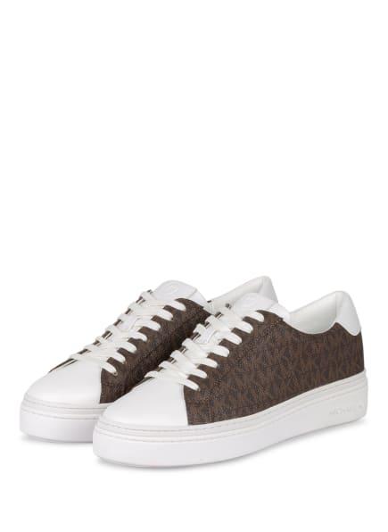 MICHAEL KORS Plateau-Sneaker CHAPMAN, Farbe: BRAUN/ WEISS (Bild 1)