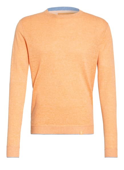 COLOURS & SONS Pullover RONALD mit Leinen, Farbe: ORANGE (Bild 1)