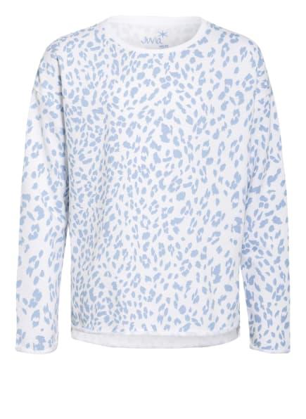 Juvia Sweatshirt, Farbe: WEISS/ HELLBLAU (Bild 1)