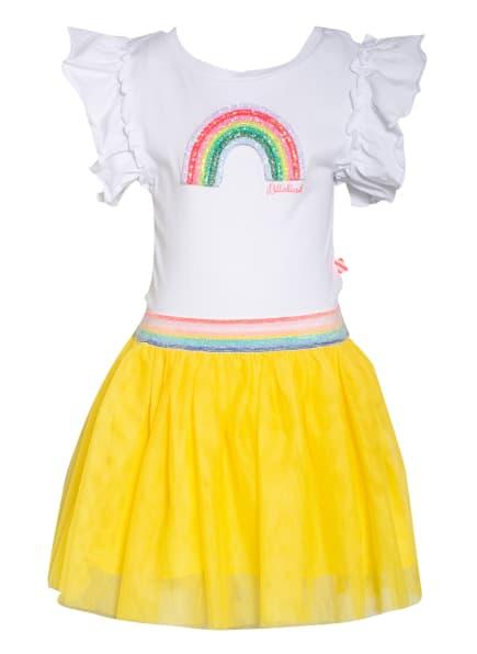 Billieblush Kleid mit Paillettenbesatz , Farbe: WEISS/ GELB (Bild 1)