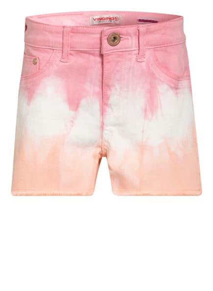 VINGINO Jeans-Shorts DAFINA, Farbe: ROSA/ WEISS/ HELLORANGE (Bild 1)