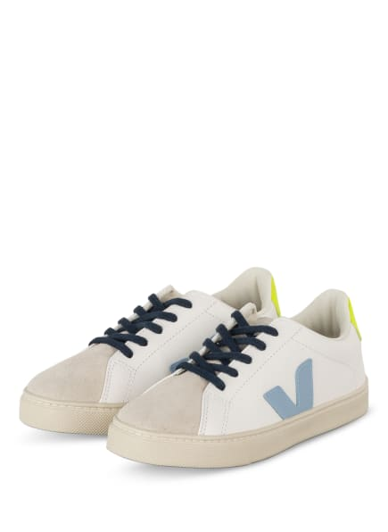 VEJA Sneaker ESPLAR, Farbe: WEISS/ HELLBLAU/ NEONGELB (Bild 1)