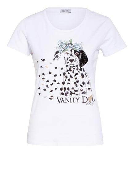 LIU JO T-Shirt mit Paillettenbesatz, Farbe: WEISS (Bild 1)
