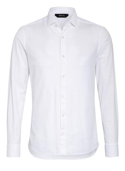 ZZegna Piqué-Hemd Slim Fit, Farbe: WEISS (Bild 1)