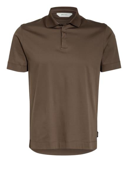 ZZegna Jersey-Poloshirt Slim Fit, Farbe: OLIV (Bild 1)