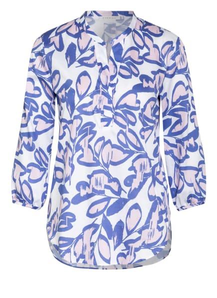 ETERNA Blusenshirt mit 3/4-Arm, Farbe: WEISS/ BLAU/ ROSÉ (Bild 1)