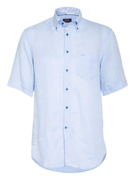 PAUL & SHARK Kurzarm-Hemd Slim Fit aus Leinen, Farbe: HELLBLAU (Bild 1)