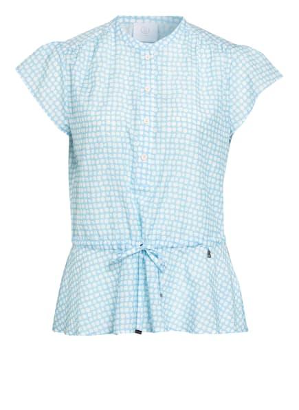 BOGNER Blusenshirt ELISA mit Seide, Farbe: HELLBLAU/ WEISS (Bild 1)