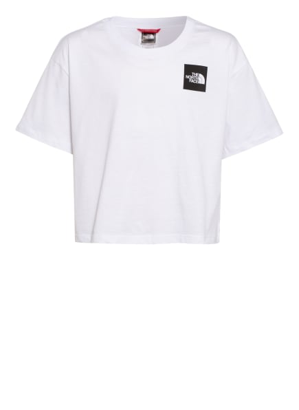 THE NORTH FACE Cropped-Shirt, Farbe: WEISS (Bild 1)
