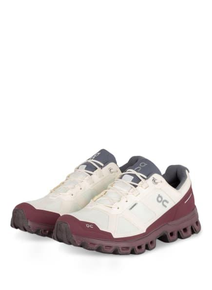 On Trailrunning-Schuhe CLOUDVENTURE WATERPROOF, Farbe: ECRU/ DUNKELROT (Bild 1)