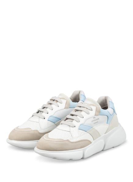 COPENHAGEN Plateau-Sneaker, Farbe: WEISS/ HELLBLAU/ BEIGE (Bild 1)