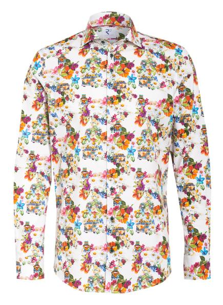 R2 Amsterdam Hemd Regular Fit, Farbe: WEISS/ GRÜN/ ORANGE (Bild 1)