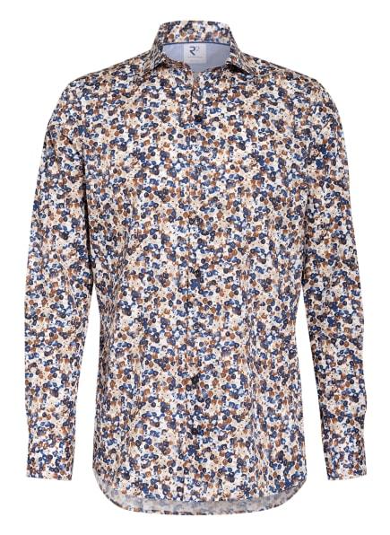 R2 Amsterdam Hemd Regular Fit, Farbe: WEISS/ DUNKELBLAU/ BRAUN (Bild 1)