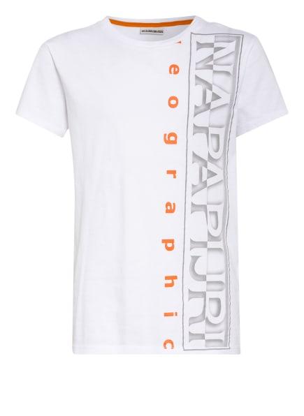 NAPAPIJRI T-Shirt, Farbe: WEISS/ GRAU/ NEONORANGE (Bild 1)