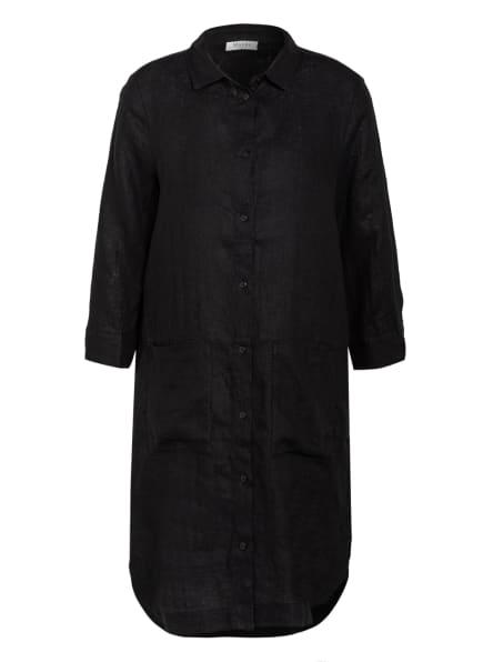 MAERZ MUENCHEN Hemdblusenkleid aus Leinen, Farbe: SCHWARZ (Bild 1)