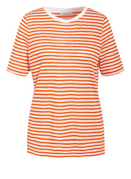 MAERZ MUENCHEN T-Shirt aus Leinen, Farbe: ORANGE/ CREME (Bild 1)