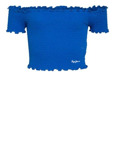 Pepe Jeans Cropped-Top, Farbe: BLAU (Bild 1)