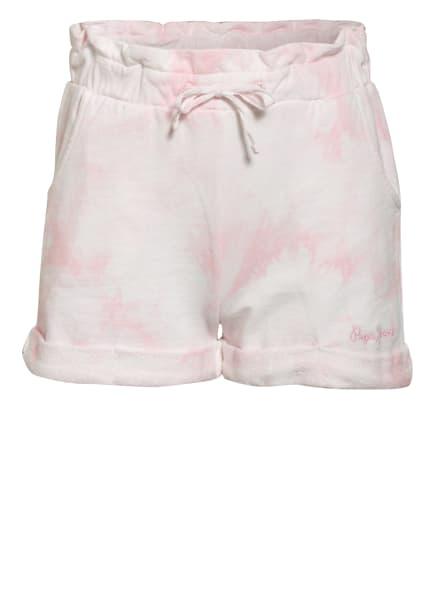 Pepe Jeans Sweat-Shorts, Farbe: HELLROSA/ WEISS (Bild 1)