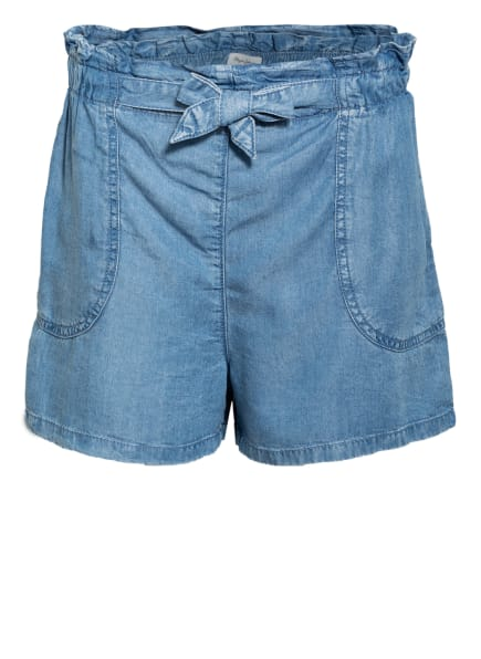 Pepe Jeans Paperbag-Shorts in Jeans-Optik, Farbe: BLAU (Bild 1)