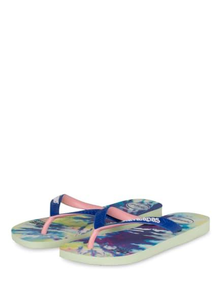 havaianas Zehentrenner TOP , Farbe: BLAU/ HELLGRÜN (Bild 1)