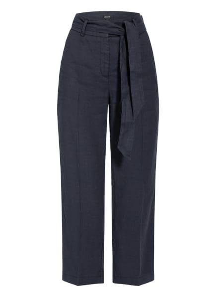 CAMBIO 7/8-Hose CLAIRE mit Leinen, Farbe: DUNKELBLAU (Bild 1)