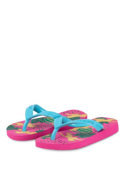 havaianas Zehentrenner, Farbe: PINK/ TÜRKIS (Bild 1)