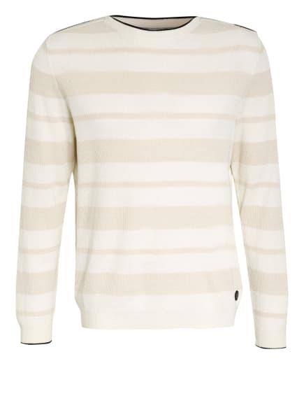 BOGNER Pullover PAVLOS mit Leinen, Farbe: WEISS/ CREME (Bild 1)