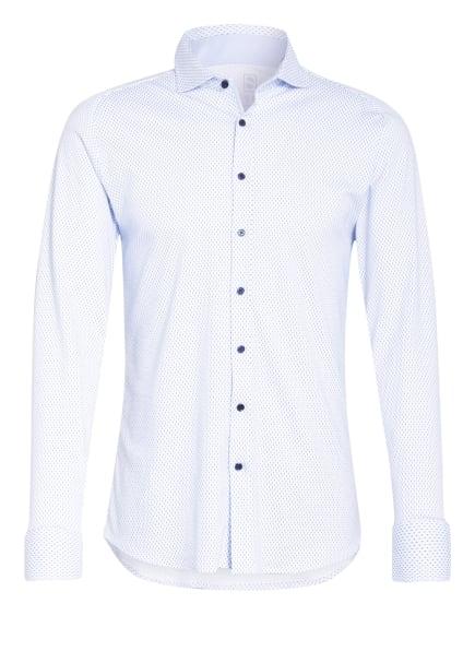 DESOTO Jerseyhemd Slim Fit , Farbe: WEISS/ DUNKELBLAU (Bild 1)