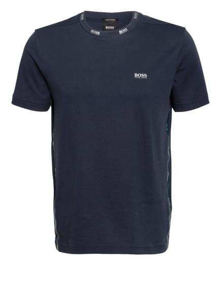 BOSS T-Shirt GOLD mit Galonstreifen, Farbe: DUNKELBLAU/ SILBER (Bild 1)