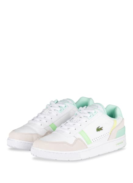 LACOSTE Sneaker T-CLIP , Farbe: WEISS/ BEIGE/ HELLGRÜN (Bild 1)