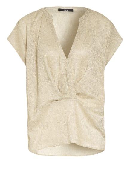 SET Blusenshirt mit Glitzergarn , Farbe: GOLD (Bild 1)