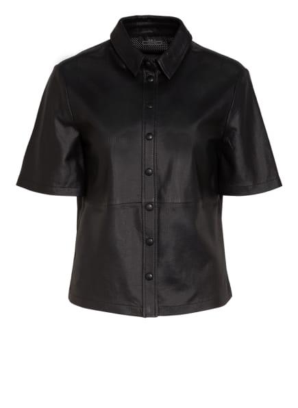 SET Hemdbluse aus Leder, Farbe: SCHWARZ (Bild 1)