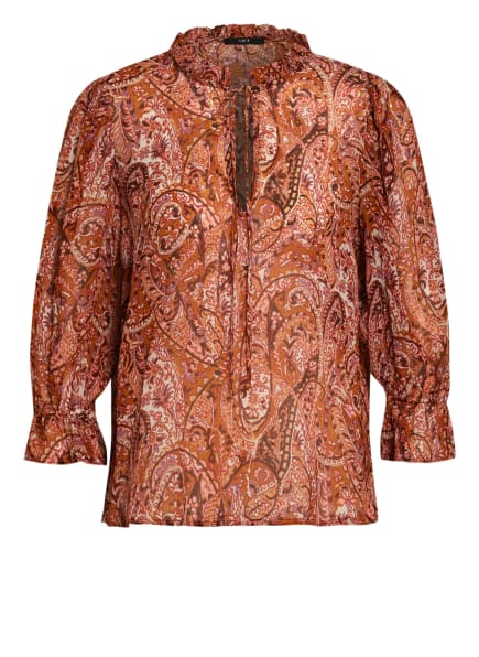 SET Bluse mit Volantbesatz, Farbe: DUNKELORANGE/ DUNKELROT/ LILA (Bild 1)