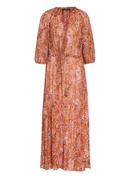 SET Kleid mit 3/4-Arm , Farbe: DUNKELORANGE/ ECRU/ ROSÉ (Bild 1)