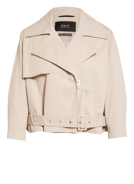 SET Jacke im Biker-Stil, Farbe: CREME (Bild 1)