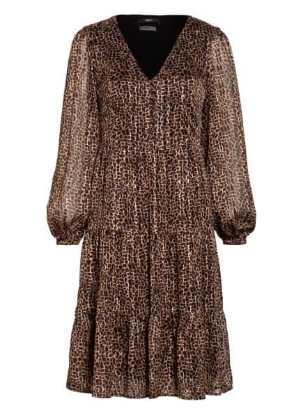 SET Kleid mit Glitzergarn, Farbe: CAMEL/ BRAUN/ SCHWARZ (Bild 1)